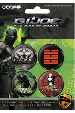 odznaky G.I. Joe Snake Eyes vs Storm Shadow Pyramid International