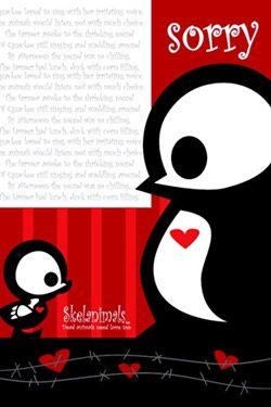 pohlednice Skelanimals Pen & Quackee Sorry - dárková karta