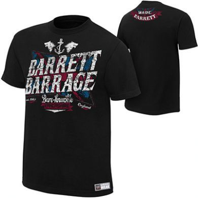 tričko WWE Wrestling Wade Barrett Barrage Authentic