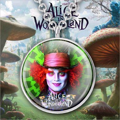 Alenka v říši divů (Alice in Wonderland) - náhrdelník Mad Hatter