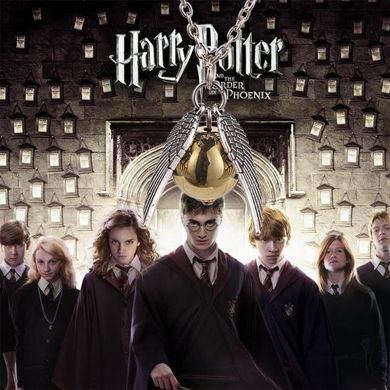 Harry Potter - náhrdelník Zlatonka