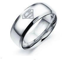 ocelový prsten Superman Logo - stříbrný