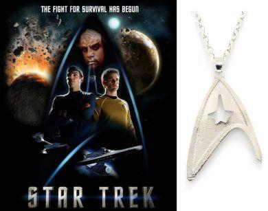 Star Trek náhrdelník znak velitelské divize Hvězdné flotily (Starfleet Command Division)